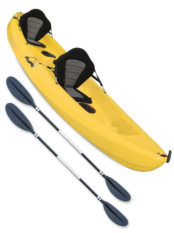 Gosea Voyage Double Sit On Top Kayak Yellow 2 Person