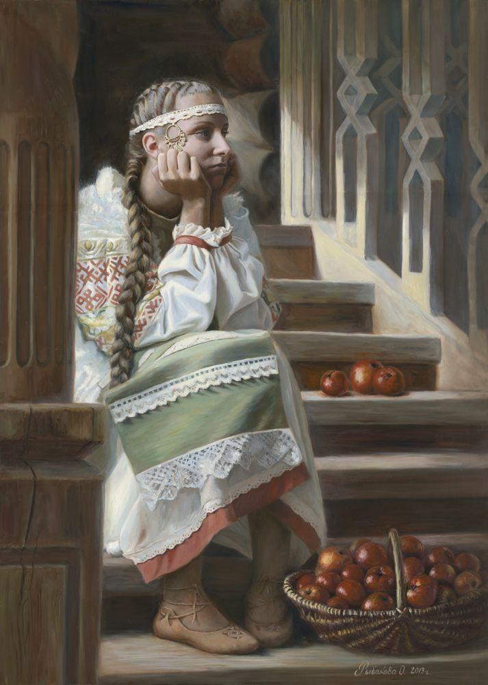 Primary Russia by Olga Rybakova, Oil on Canvas