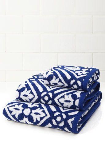 Blue Santorini Towels