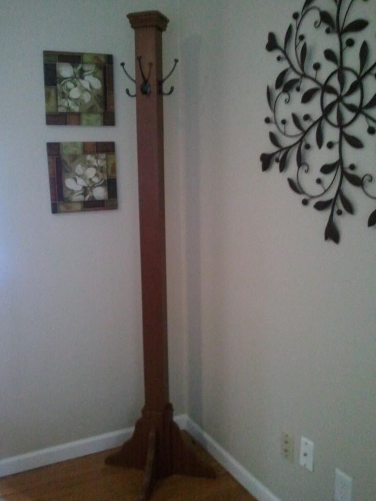 DIY coat rack we made My pleted projects Pinterest