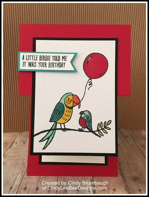 SU Bird Banter Fun Fold for Creating Pretty Cards # 78 | Cindy Lee Bee Designs
