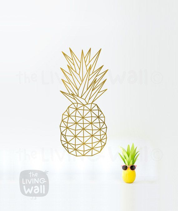 Art mural géométrique ananas, Fruit Stickers mural autocollant Decor, australien fait