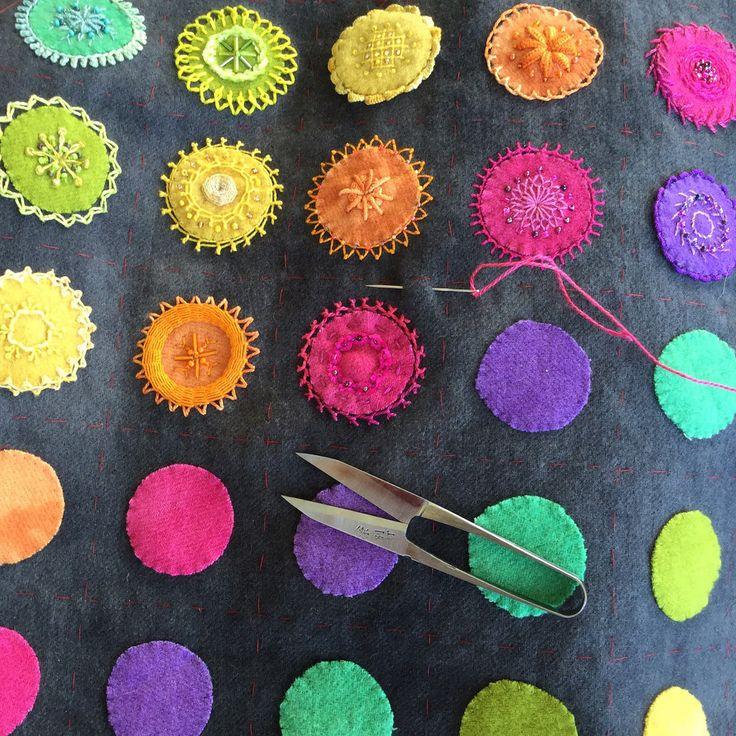 Embroidered Mandala Sampler - creative stitching