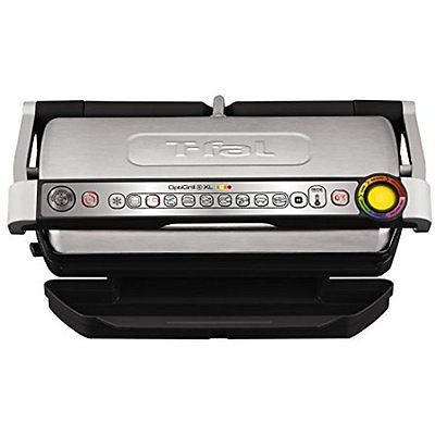 T-fal GC722D53 1800W OptiGrill XL Stainless Steel Large Indoor Electric Grill