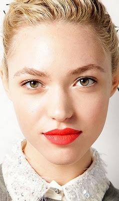 Jason Wu Scarlet Ibis Lipstick: Cora Keegan, Jason Wu Spring, Makeup Inspiration, Reddishorang Lipsticks, Bridal Makeup, Redorangelipstickjpg 480677, Perfect Red Lips, Reddish Orange Lipsticks, Spring 2012