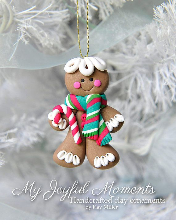 Handcrafted Polymer Clay Gingerbread Man Ornament                                                                                                                                                                                 More