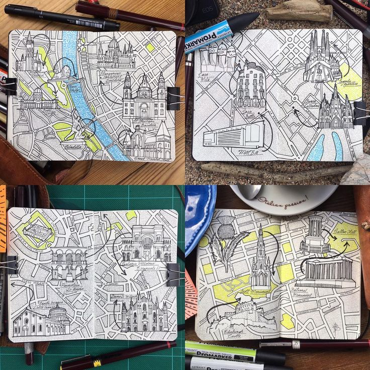 My moleskine city day trip map Drawing city guide of what you could see and do in just a day in a European city on a low cost budget of less then £100 top cities Budapest, Barcelona, MIlan, Edinburgh #moleskine #ink #pen #illustration #draw #drawing #sketch #sketching #rotring #stationary #stationaryaddict #inkstagram #inkart #inky #sketchpad #sketchbook #sketchbookdaily #sketchoftheday #citymap #europe #budapest #barcelona #milan #edinburgh #traveldraw #traveldrawing #travelmap…