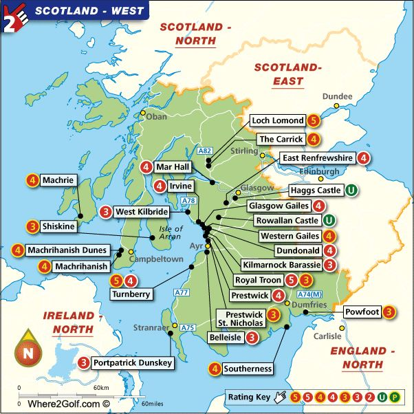 20 Best Ireland Golf Vacation Images On Pinterest Clubs: America Map Centered On Troon At Codeve.org
