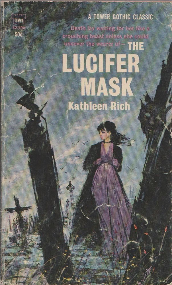 The Lucifer Mask Kathleen Rich vintage gothic paperback Tower 1967 good cond
