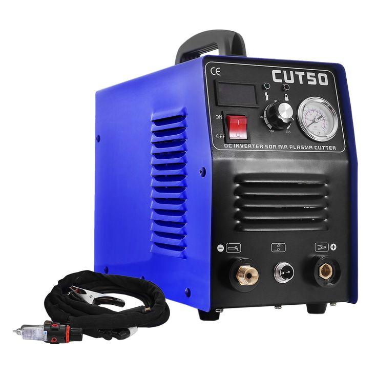 Mophorn 110v Plasma Cutters Portable 50A Tig Welder CUT50 Inverter Digital Welding Machine