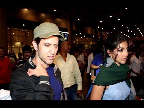 Hrithik Roshan & Pooja Hegde spotted at Mumbai airport.