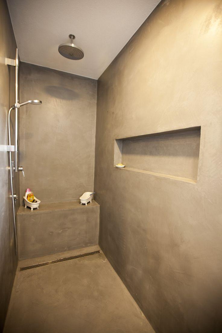 fugenlose dusche mit dracholin cosmato privathaus. Black Bedroom Furniture Sets. Home Design Ideas