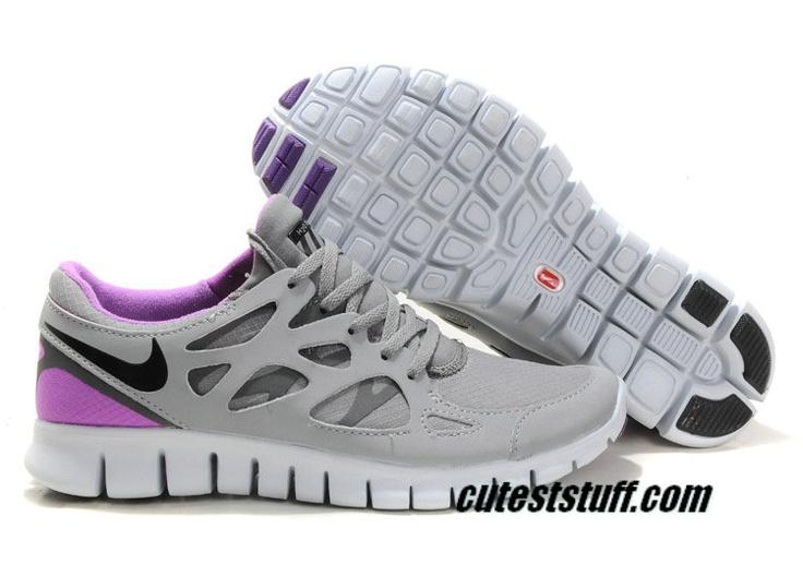 Womens Nike Free Runs 2 Shield Cool Grey Varsity Purple Shoes