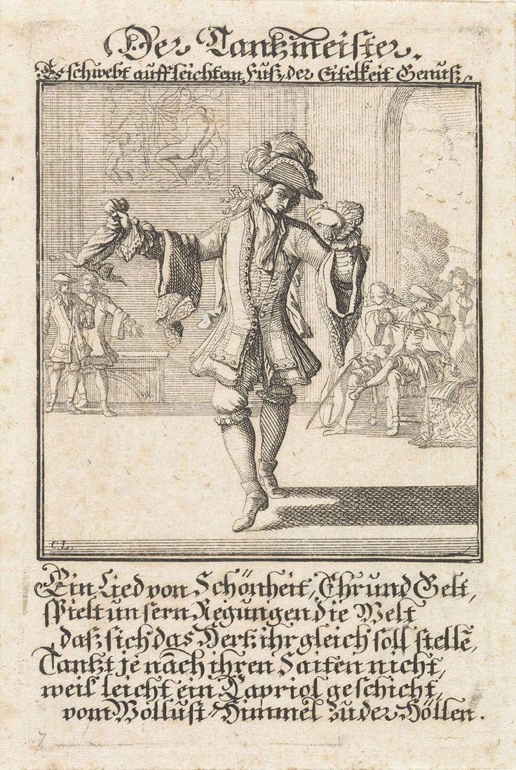 Dansleraar, Caspar Luyken, Anonymous, 1698