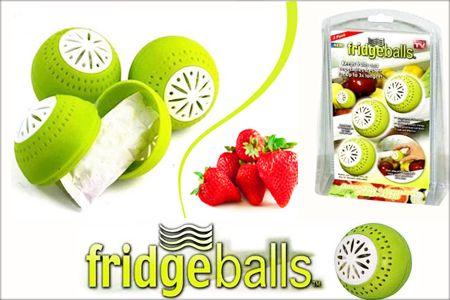 Puteti mentine durata de viata a alimentelor din frigiderul dumneavoastra de pana la 3 ori mai mult cu noile bile mentinere prospetime Fridge Balls.