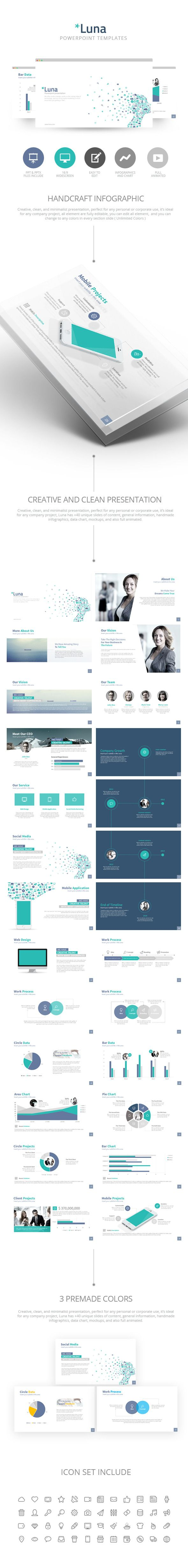 Luna Powerpoint Presentation Template PowerPoint Template / Theme / Presentation / Slides / Background / Power Point #powerpoint #template #theme