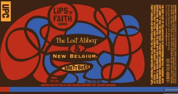 Another collaboration between The Lost Abbey and New Belgium Brewing is coming in the form of Brett Beer, a Lips of Faiths series beer.Belgiumlost Abbey, Belgium Collaborative, Abbey Collab, Brett Beer, Beer Street, Belgium Lost Abbey, Faith, Beer Labels, Brettbeer