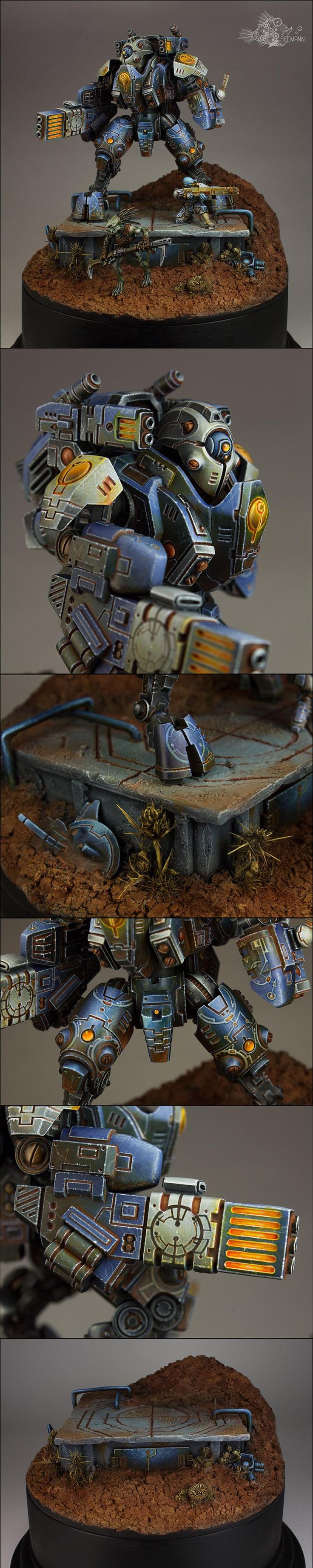 Diorama, Fire Warriors, Ghostkeel, Tau, Warhammer 40,000 - XV95 Ghostkeel Battlesuit - Gallery - DakkaDakka | Brace for Impact!
