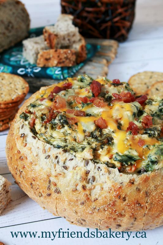 Hot Spinach Dip | My Friend's Bakery A delicious dip for your New Year's Eve party, movie night, or just because.