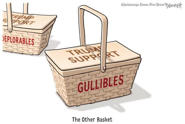 A roundup of funny and provocative cartoons about Donald Trump and his presidential campaign.: The Other Basket