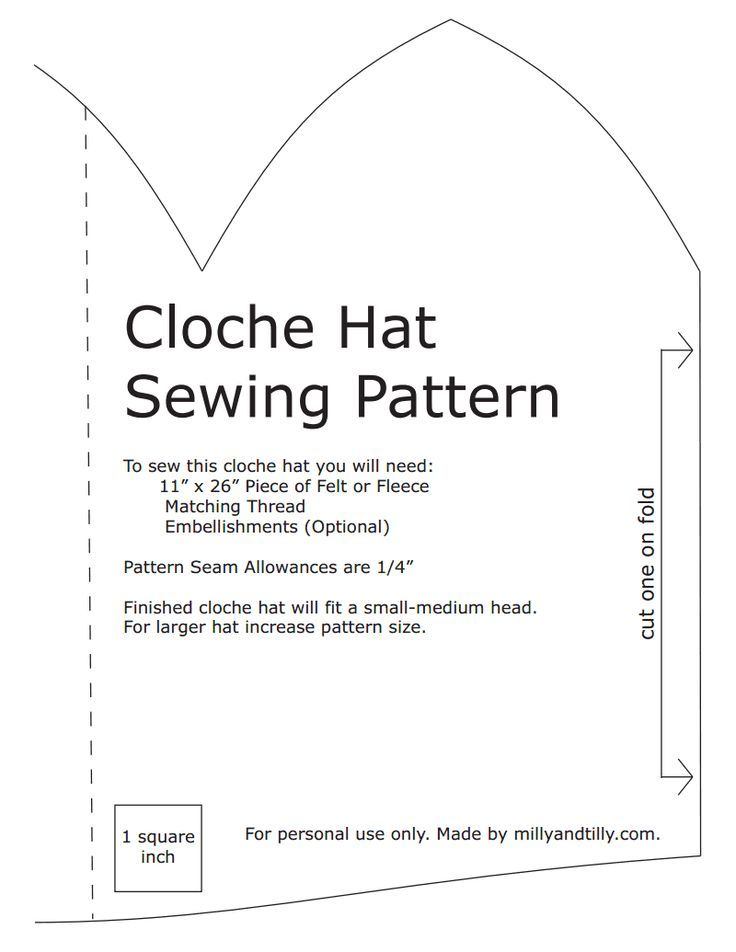 Hat Cloche Pattern Fleece