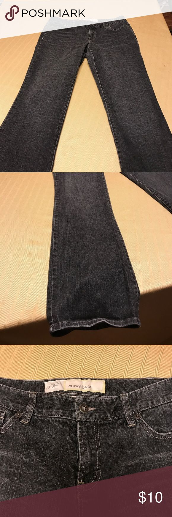 Ann Taylor Loft Women's Dark Wash Jeans Gently used. No noticeable flaws, tears, stains or marks. Great condition! LOFT Jeans Straight Leg