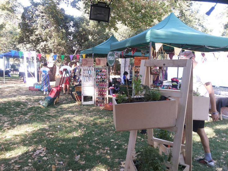 Sábado 14 de marzo, en el stand de Ecovive en la Aldea Verde del Lollapalooza Chile 2015.