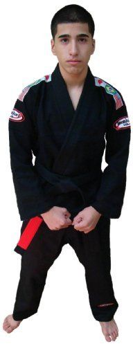 Bjj Kimono Jiu Jitsu/judo Gi Student Black Color 6 by Worldorf USA. $41.99. Single weave jiu jitsu student uniform jacket 500gm , pant 10oz 100% bleached cotton .comes with white belt. Sanforized , Mersrise process, Embroidery on both shoulders , back of neck and on the pant, 3 flags woven on both shoulders (olympic style) . Now packed in clear plastic zipper bag, comes with white belt.  PS : no fear of shrinkage or color fadding (100% pre shrinked, and safe for ...