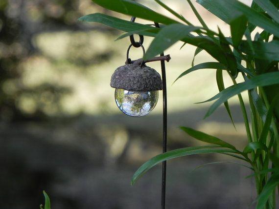 Miniature Fairy Garden Acorn Cap Lantern  by TheLittleHedgerow, $5.50