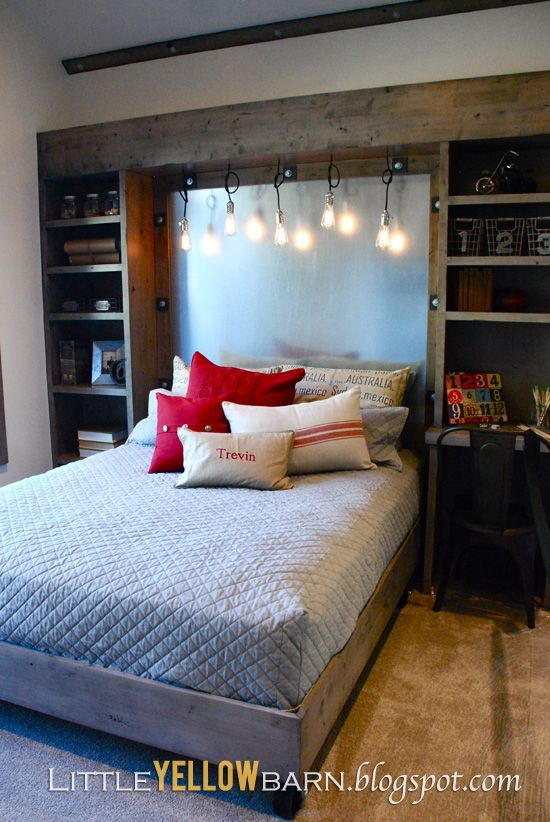 Great bookcase/headboard built-in