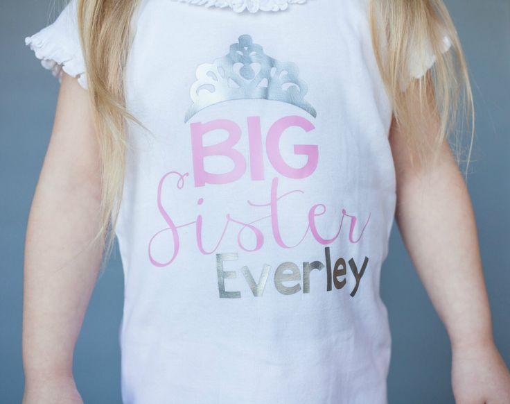 Big Sister Princess shirt...New Sibling Shirt...New Baby shirt...Big Sister shirt...Personalized Sister...Sibling shirt...New Sibling Gift by TheNewBabyBoutique on Etsy https://www.etsy.com/listing/273150158/big-sister-princess-shirtnew-sibling