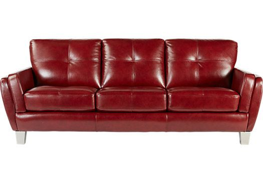 Cindy Crawford Home Palermo Red Leather Sofa. $999.99. 91W x 37D x 34.5H. Find affordable Leather Sofas for your home that will complement the rest of your furniture.