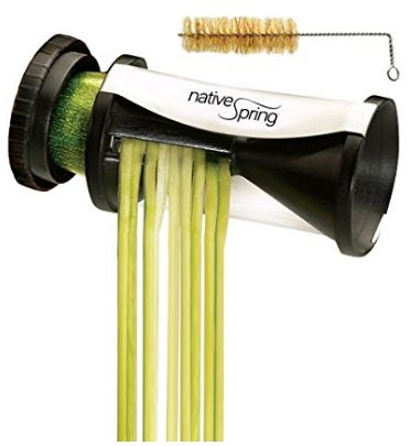 Spiral Vegetable Slicer, Hand Held with Cleaning Brush