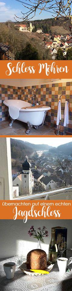 Übernachten auf einem Schloss? Dann ab nach Schloss Möhren. Dort gibt es vier unvergleichlich schöne Ferienwohnungen und einen atemberaubenden Ausblick über das Tal.   #Urlaub #Reiseziel #Übernachtung #Unterkunft #Hotel #Ferienwohnung #Ferienzimmer #Bayern #Schloss #Altmühltal #Franken #Möhren #Ausblick