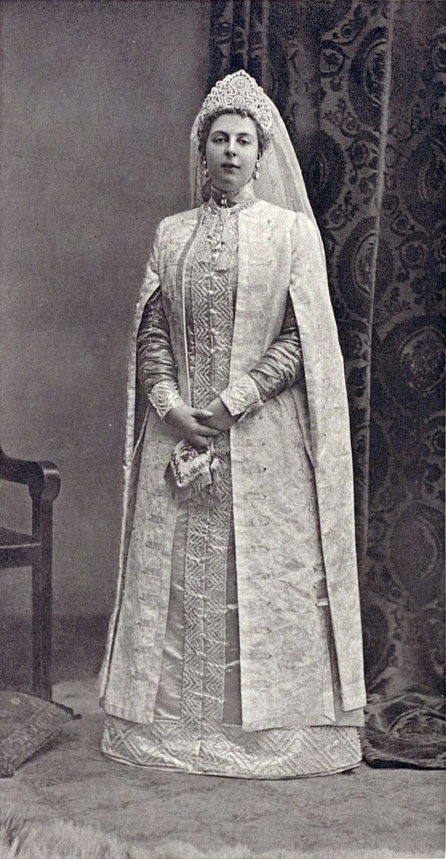 Princess Maria Constantinovna Beloselskaya-Belozerskaya at the Winter Palace Costume Ball of 1903. Maria was lady-in-waiting to Alix....154 by klimbims on deviantART
