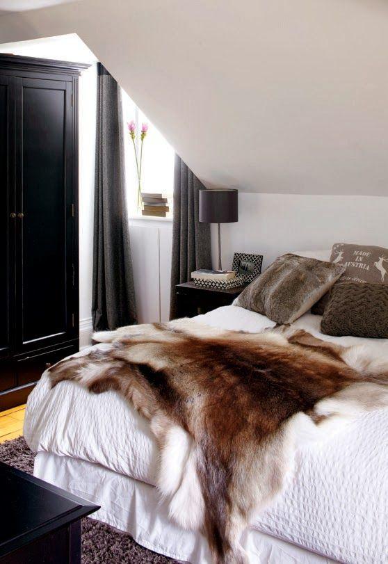 Fur + White Bedroom