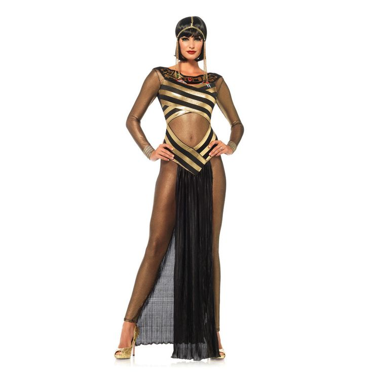 Cleopatra Costume Goddess Roman Women Egyptian Fancy Dress Halloween Cosplay S/M   eBay