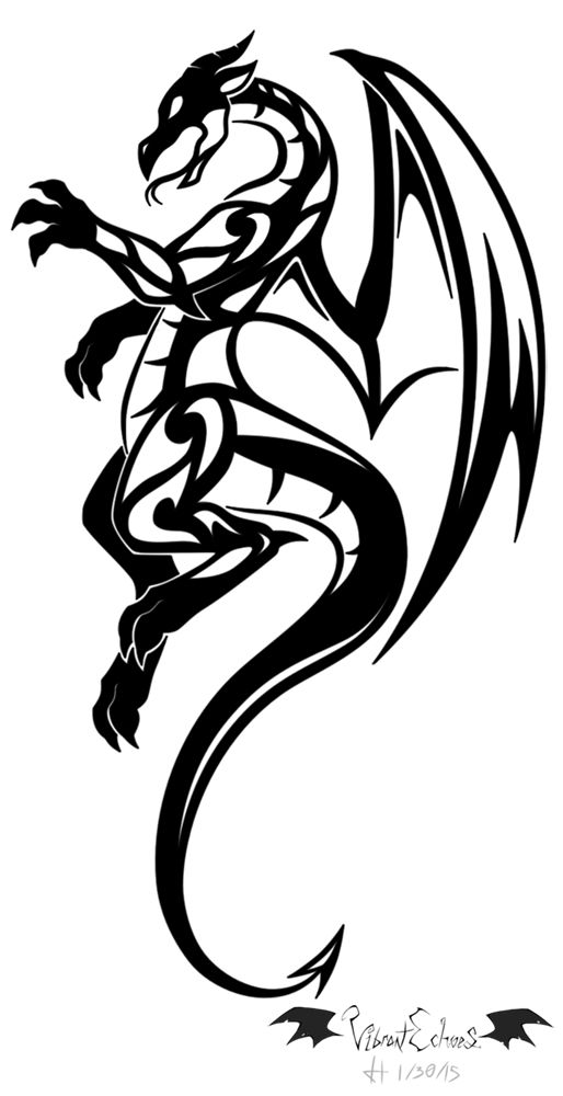 Tribal Dragon by VibrantEchoes on DeviantArt