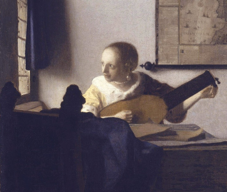 Vermeer - Detail of Woman with a Lute