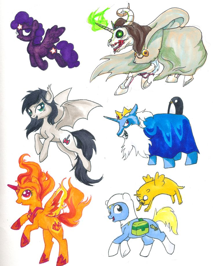 Adventure Time and MLP