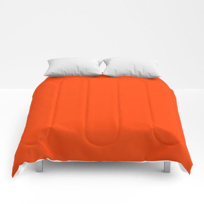 Bright Fluorescent Neon Orange Bed Comforter Orange Comforter Red Comforter Comforters