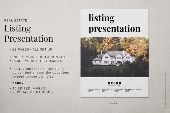 Real Estate Listing Presentation Canva Template Property Presentation Canva Template Home Buyer Presentation Real Estate Home Brochure Branding Workbook Listing Presentation Real Estate Listing Presentation