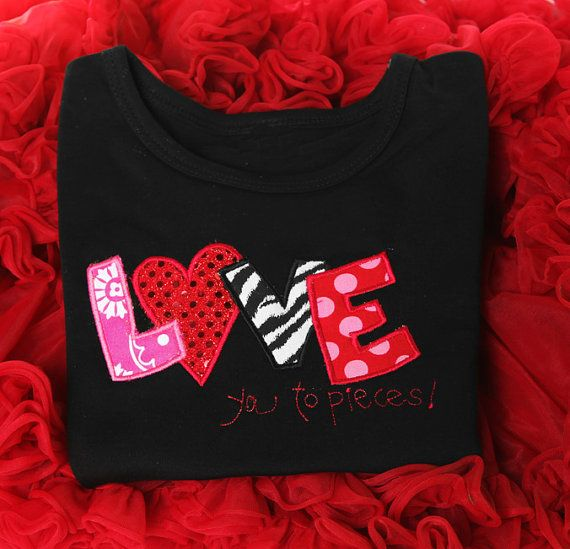 Personalized Valentines Shirt Girl Valentine's by bowdaciousbaby2