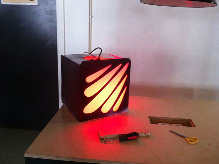 Lamp - prototype - lasercut