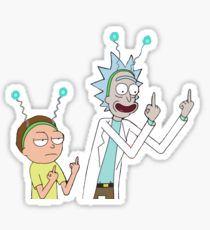 Rick and morty Pegatina