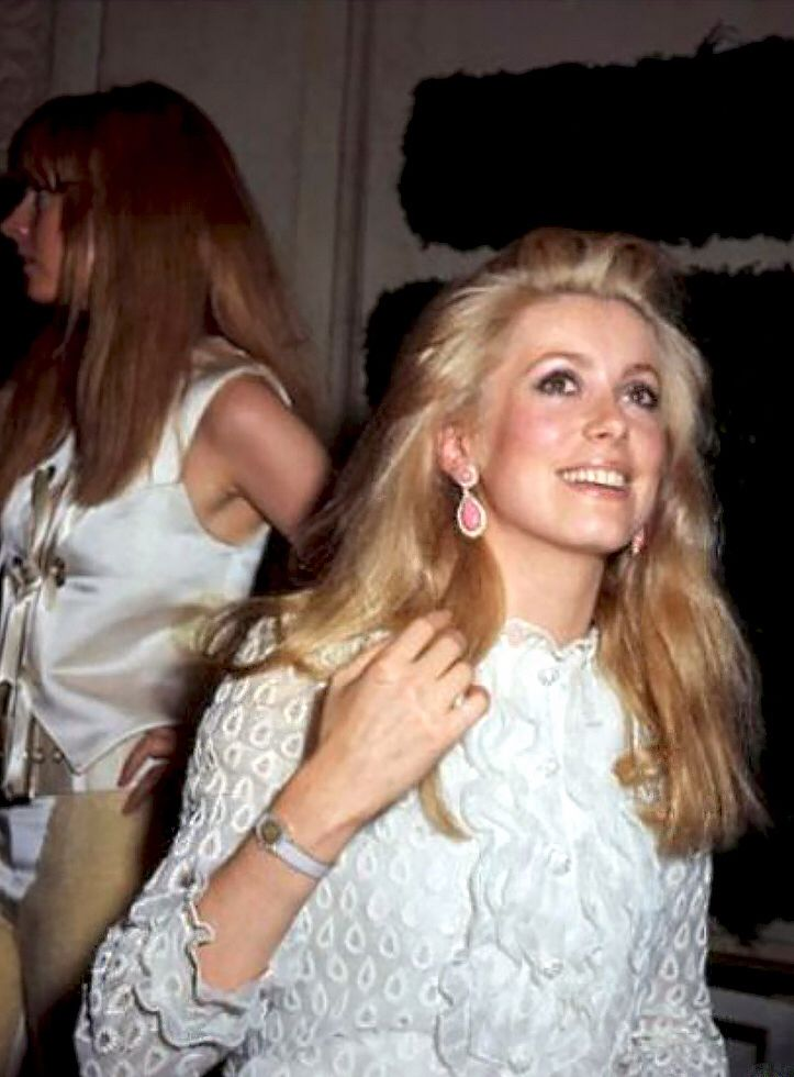 Catherine Deneuve wearing white, 1960's.