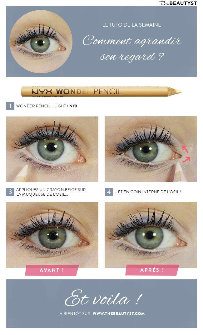 Maquillage des yeux , Comment agrandir son regard ? Notre tuto photo