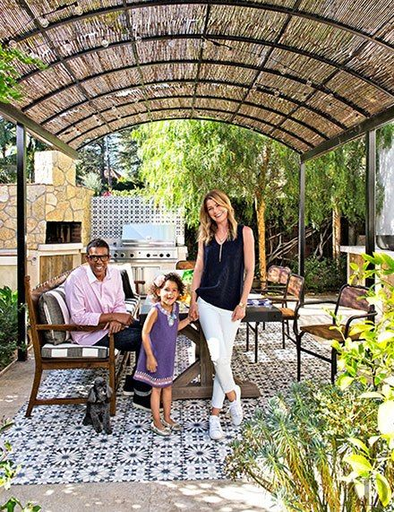 November 2014 Architectural Digest & Actress Ellen Pompeo's Los Feliz residence Before & After Article