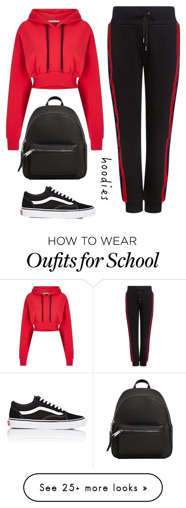 """get comfy #hoodie"" by dias123 on Polyvore featuring Miss Selfridge, Public School, Vans, MANGO and Hoodies"