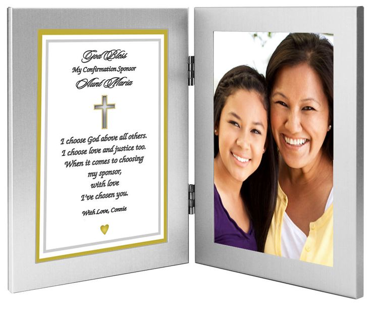 Custom Confirmation Sponsor Gift Personalize with by PoetryGifts